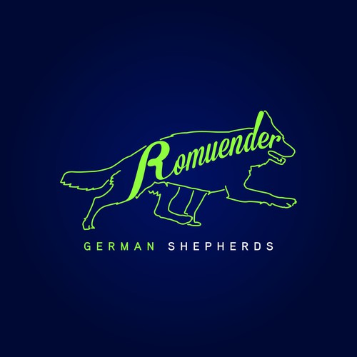 Logo for Romuender German Shepherds