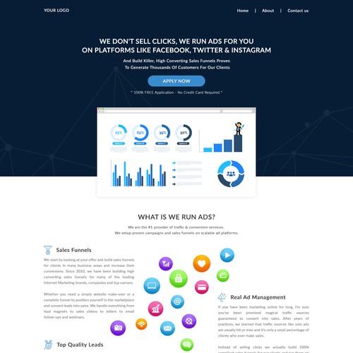 Funnel economic website design