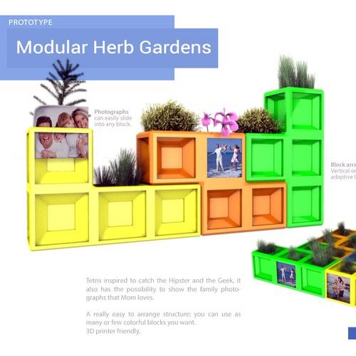 modern modular herb garden