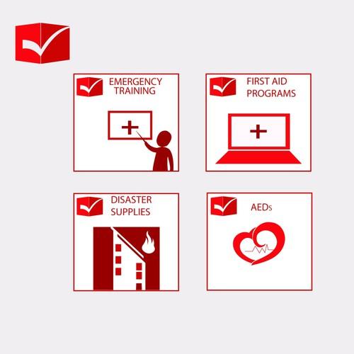 Create an Emergency Preparedness Checkmark & icons