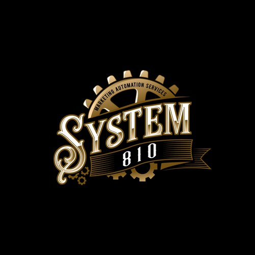 Steampunk-inspired logo for Automation Services