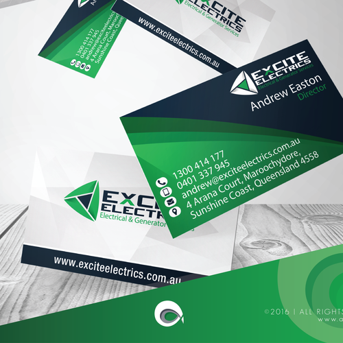 Business Card for Excite Electrics