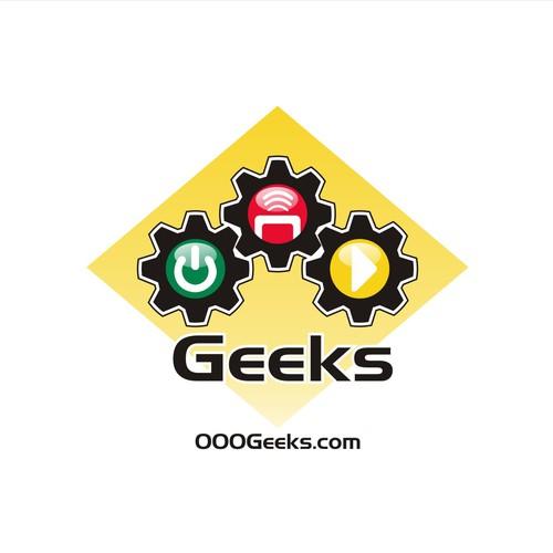 Bold, creative, symbolic logo for 000Geeks