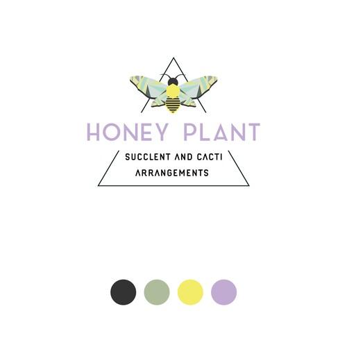 Plant and Honey Shop Logo Design