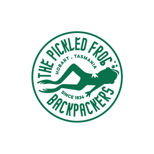 Logo for The Pickled Frog Backpackers , Hobart , Tasmania
