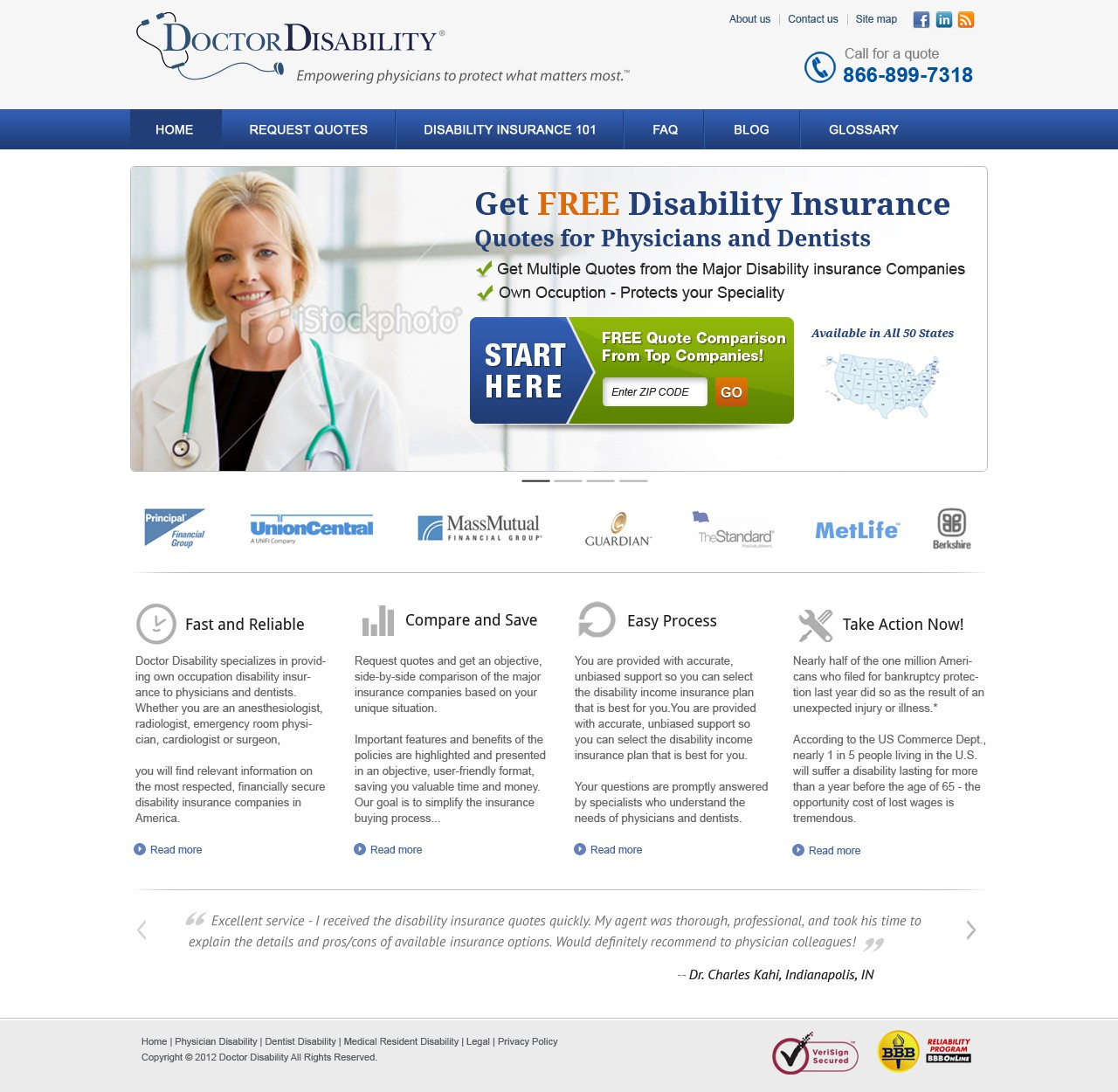 Help Doctor Disability with a new website design