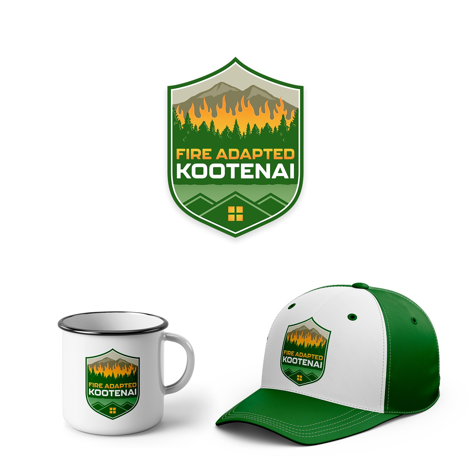 Identifiable Logo to help adapt a community living with Wildfire in Montana
