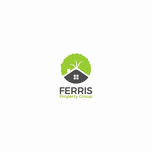 Fun, simple and clean logo for real estate team Ferris Property Group