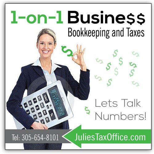 Billboard for income tax office
