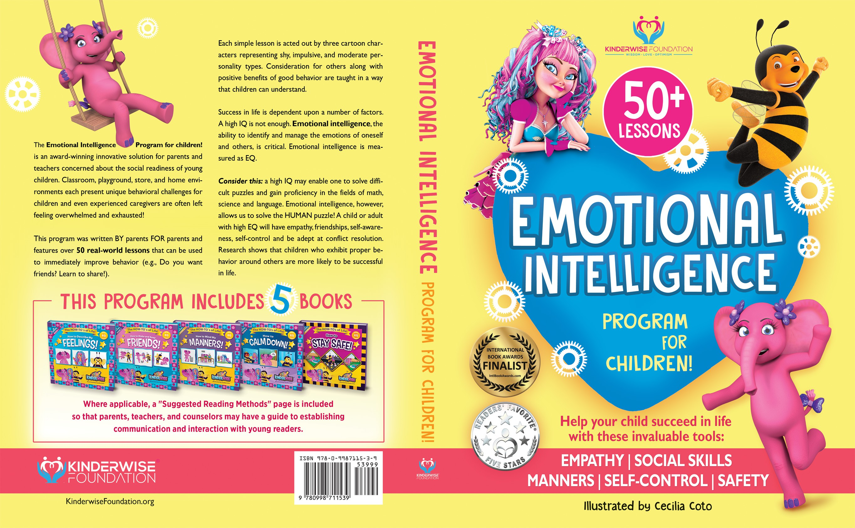 Design book cover for nonfiction Children's book (for a nonprofit)/Social-Emotional Learning