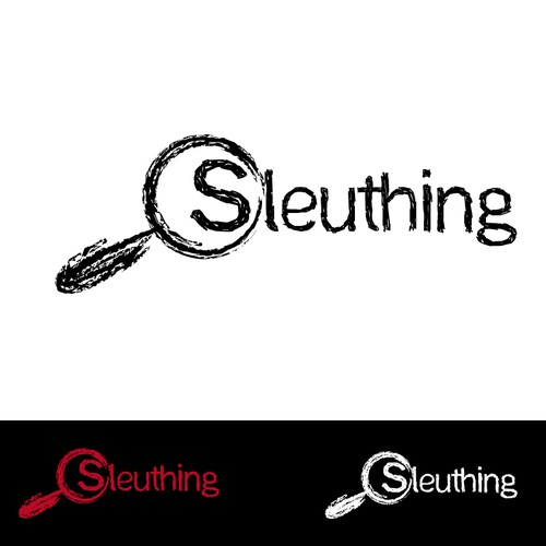 Logo for Sleuthing: a mystery party web site