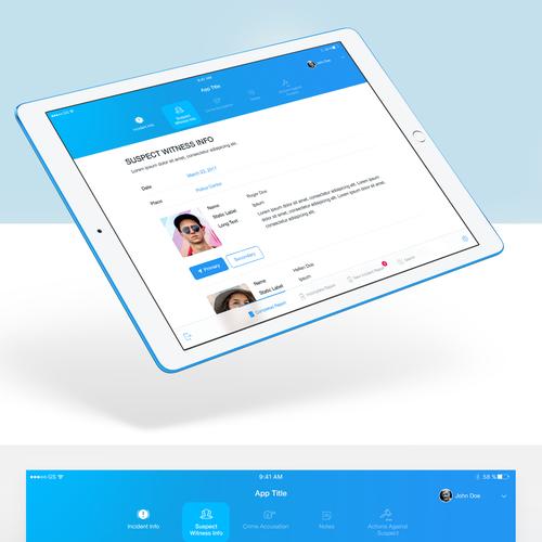 Simply Modern & Elegant App for Police Department