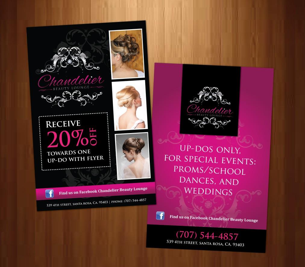 Chandelier Beauty Lounge Salon needs a new postcard or flyer