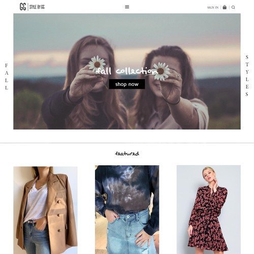 A website entry for style by gg