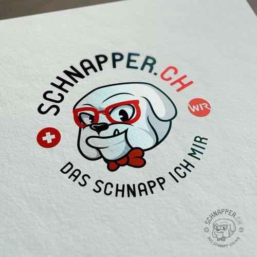 Hipster Bulldog Character