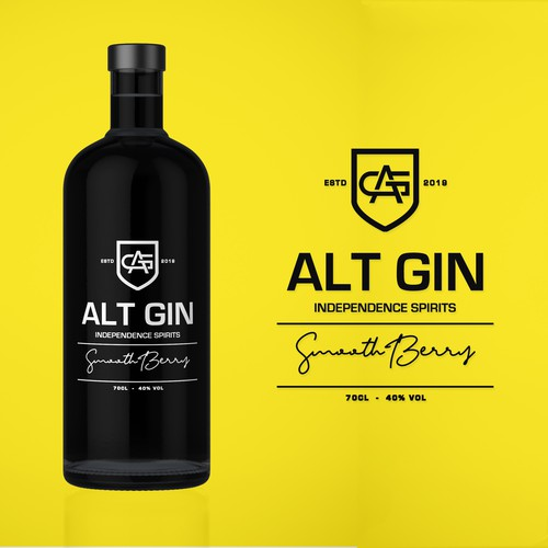 Gin bottle design