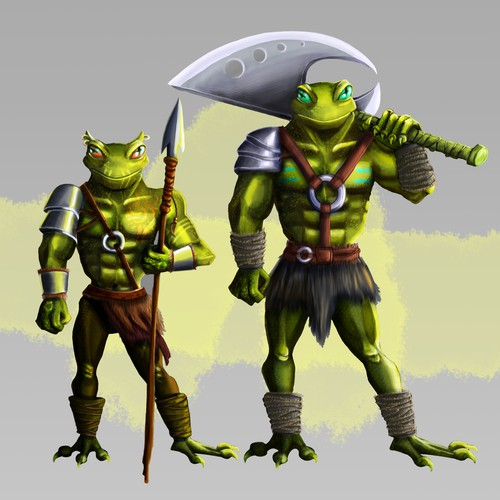 Warrior  frogs