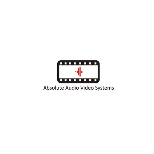 Create a creative logo centered around the letter A for Absolute Audio Video Systems