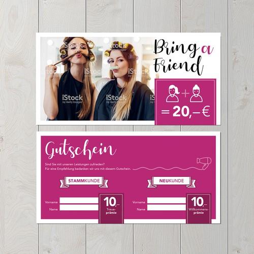 Bring-a-Friend-Card for a salon
