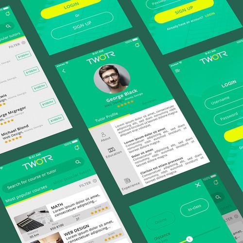 TWOTR App Design