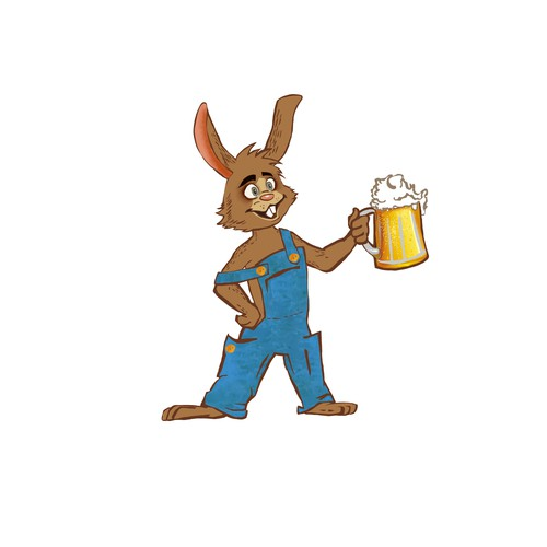 lovable rabbit for craft beer pub
