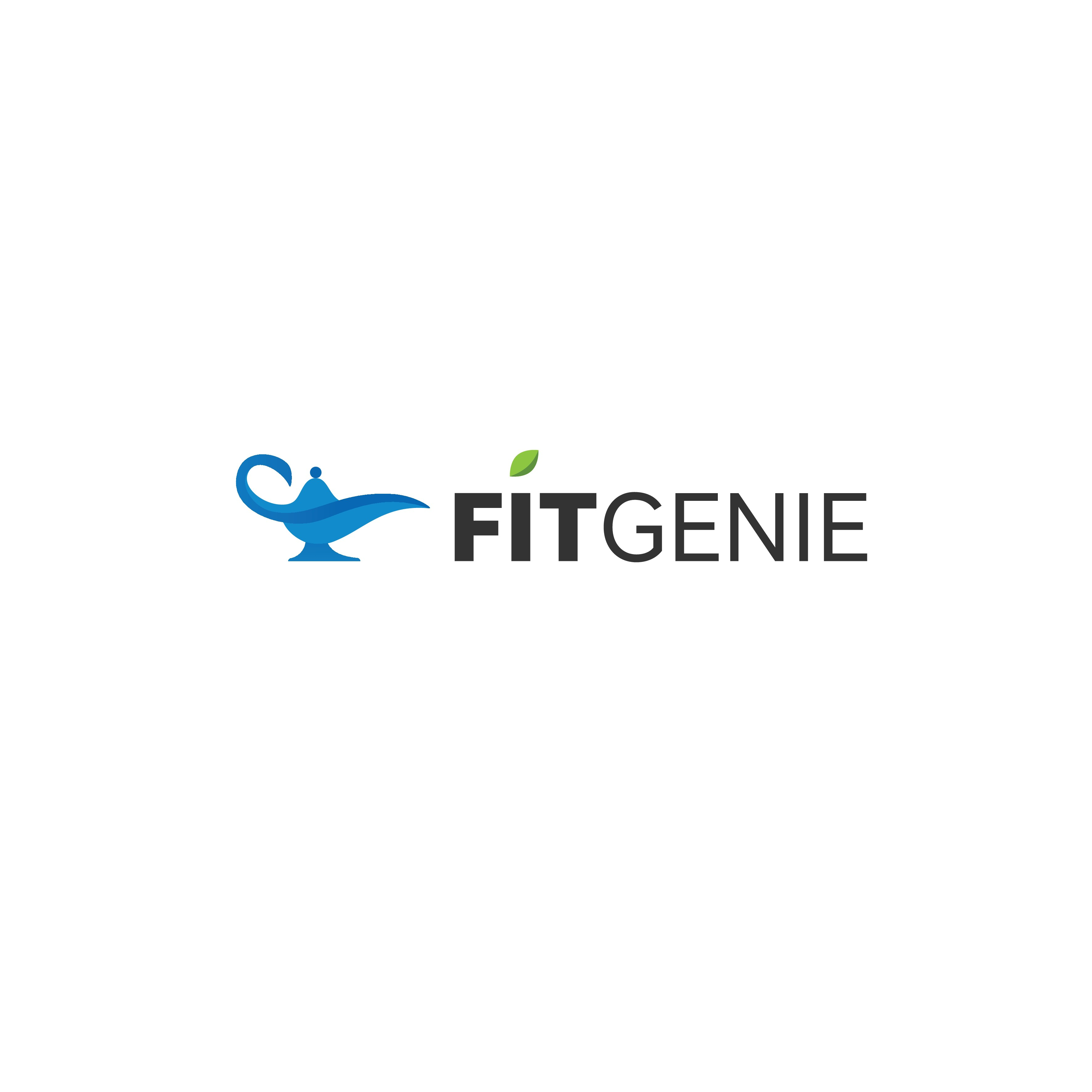 Create a logo and app icon for nutrition/dieting app FitGenie