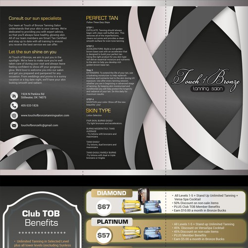 elegant modern Tanning Salon Marketing campaign
