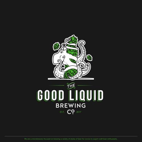 Illustrative logo for brewing company