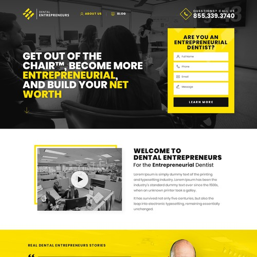 Company Re-Brand 🚀: Need Amazing Landing Page