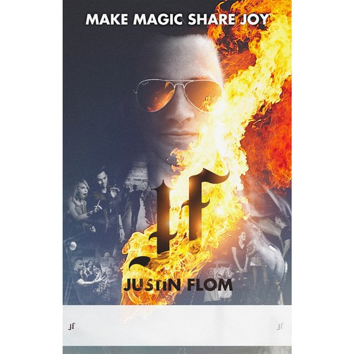 Justin Flom - poster for magician