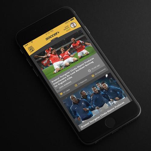 Sport soccer app