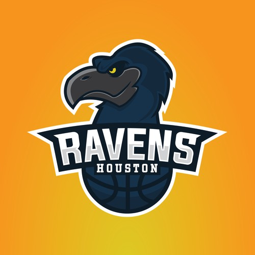 Houston Ravens logo design