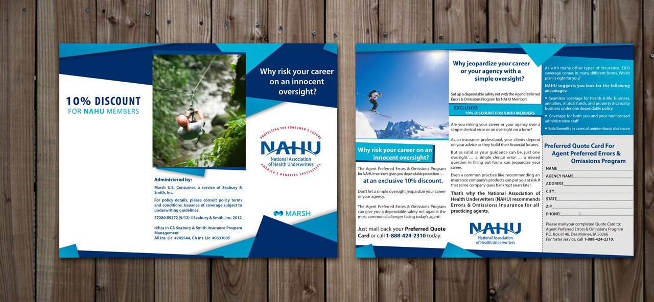 Help Marsh U.S. Consumer with a new brochure design