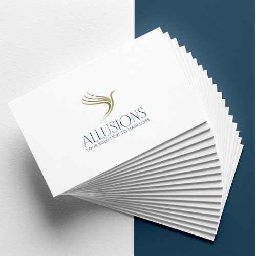 Logo Design and Brand Identity for Allusions / Hair Replacement Services