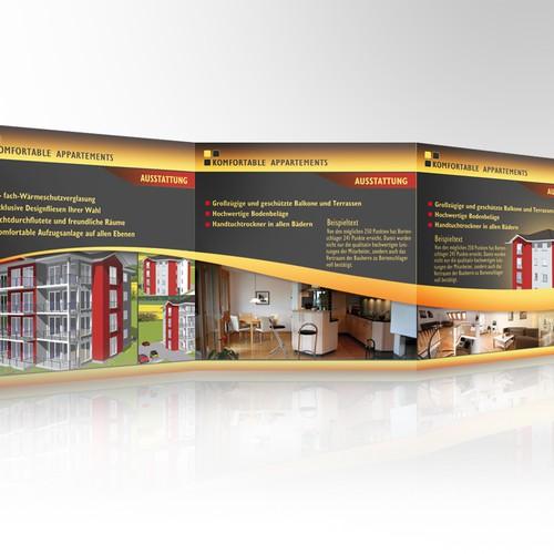 Brochure Design/ Projektflyer für Appartementhaus