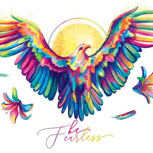Colorful Eagle illustration