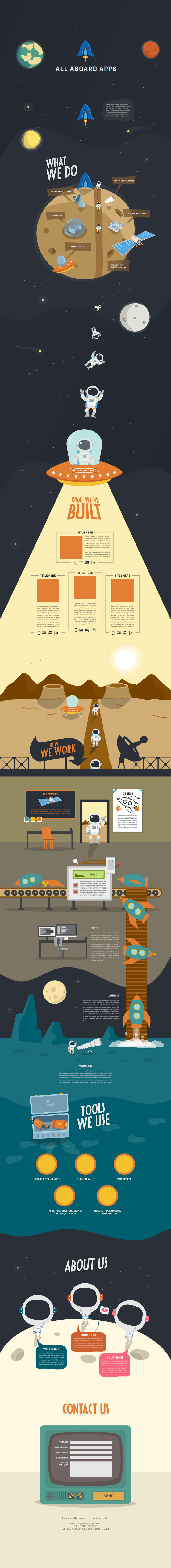 All Aboard Apps Landing Page Design