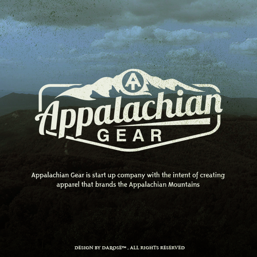 I'm looking for a relevant but vintage logo that captures the Appalachian Mountains.