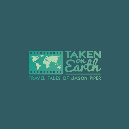 Logo design for Taken on Earth; travel photography, blog and image sales