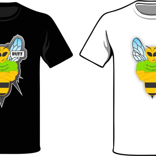 Bee Creative and Create a winning Logo for Buzz Tshirts
