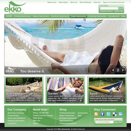 Creative website design needed  for  hammocks  e-store  startup