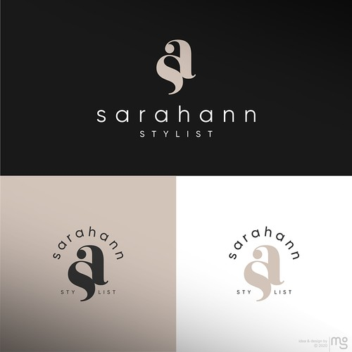 Minimal and modern logo for hairstylist