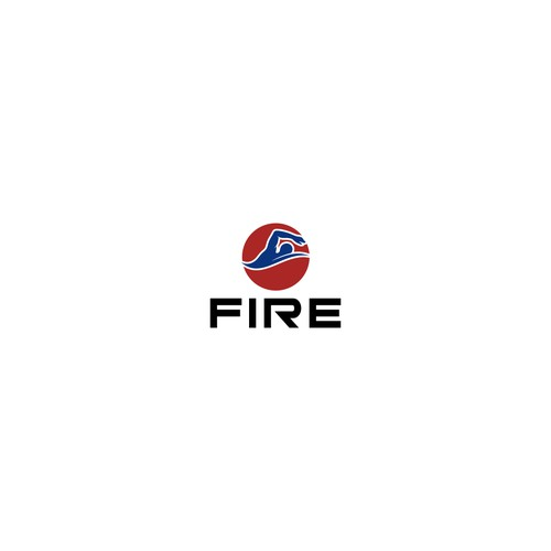 Create a logo and brand identity for a high end men's swimwear line named Fire!