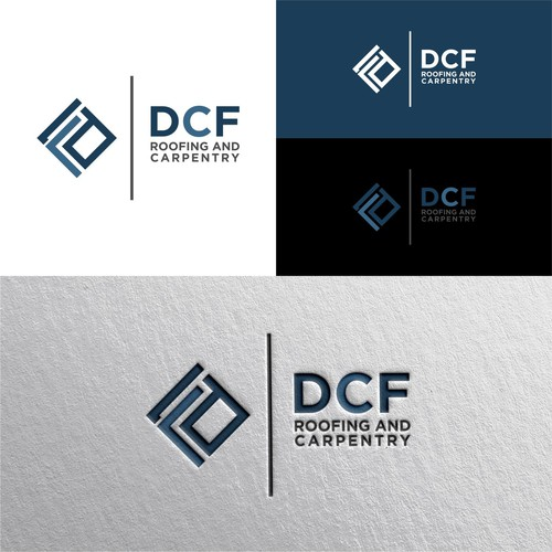 Simple and abstract logo design for DCF ROOFING AND CARPENTRY