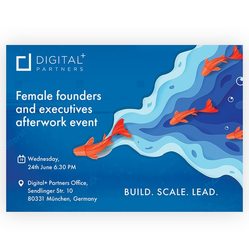 Poster design for Female Founders and executives after work event