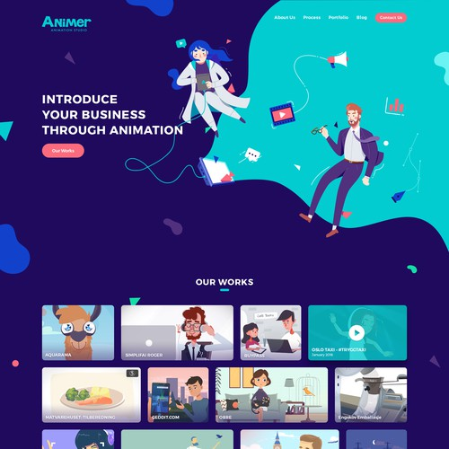 Landing Page Design for Animer.no