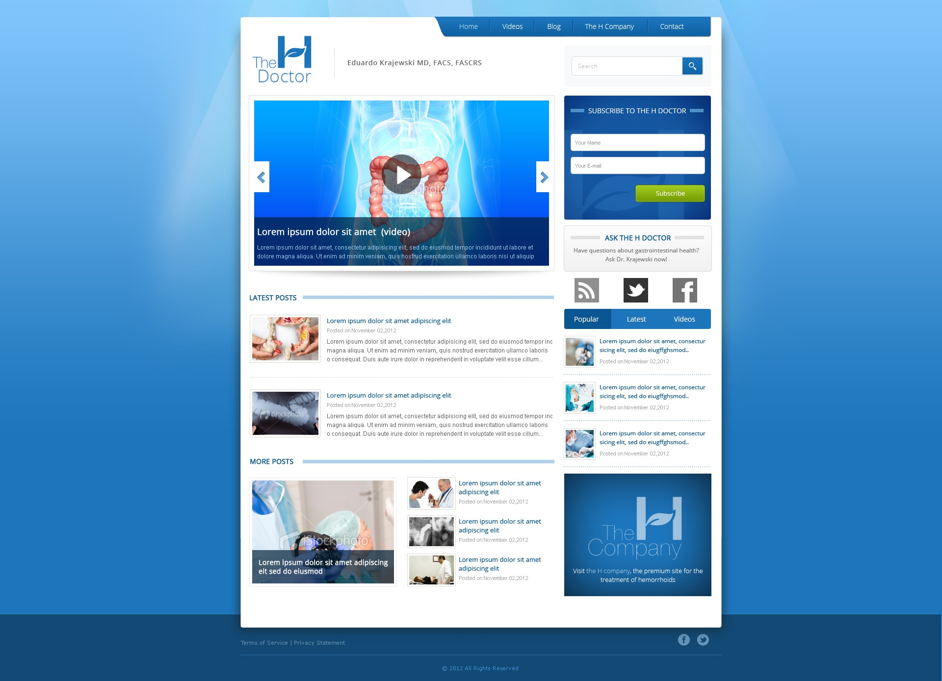 *Prize Guaranteed* New website design wanted for The H Doctor