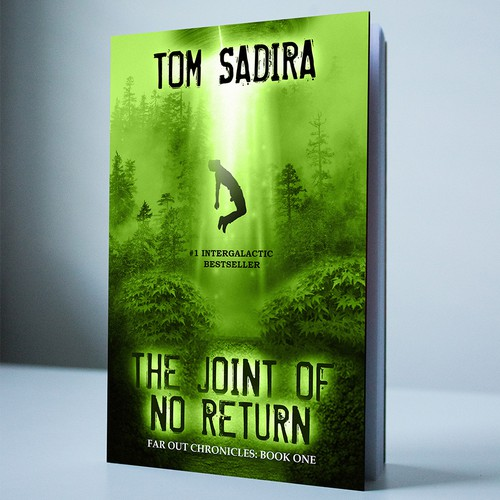 Creating book cover for stoner Sci-Fi Series