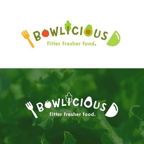 Fun logo for a healthy restaurant