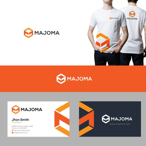 Iconic logo concept for majoma